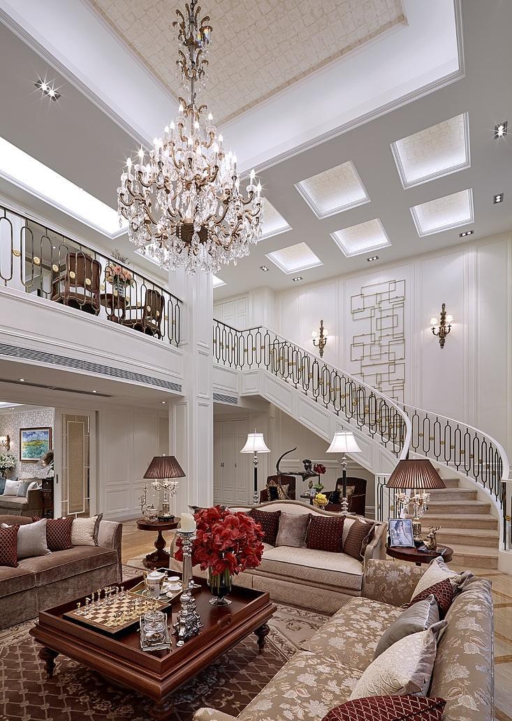 华丽大气复古欧式别墅效果图