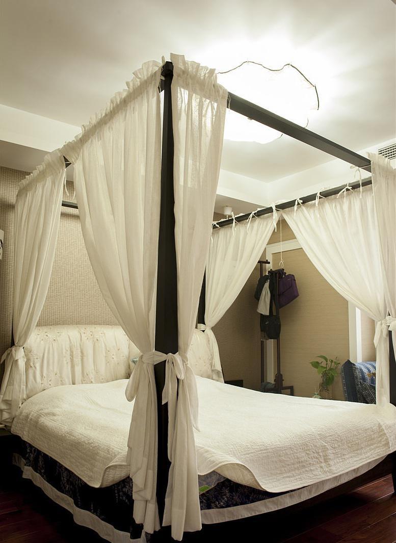 复古中式家装卧室帷幔装饰效果图