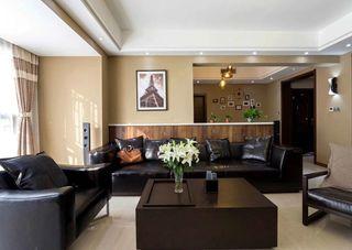 简约现代风格客厅沙发背景墙效果图片