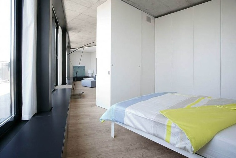 极简小户型卧室衣柜隔断设计效果图片