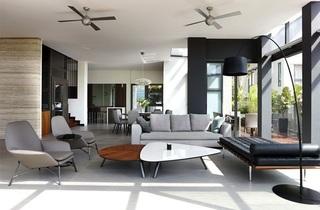 黑白色调出众搭配 简约风格别墅设计