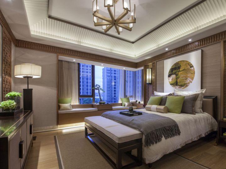 奢华大气新中式别墅卧室效果图大全