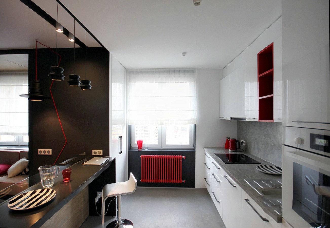 现代简约风格厨房吧台效果图