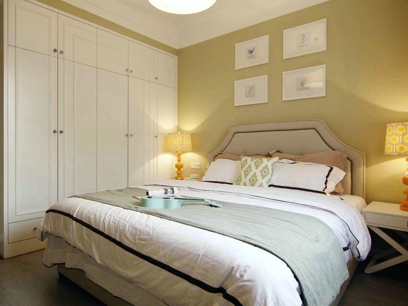 温馨精美美式简约卧室白色衣柜装饰效果图