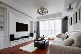 8万元打造时尚简美三居装修案例图