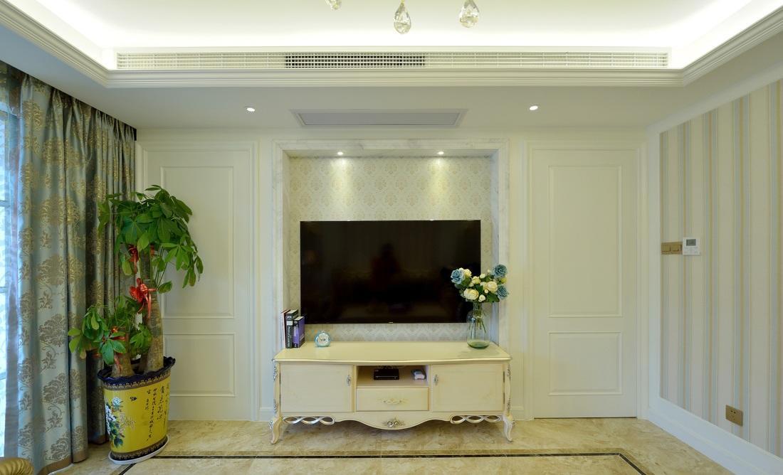 简约欧式客厅电视背景墙设计图