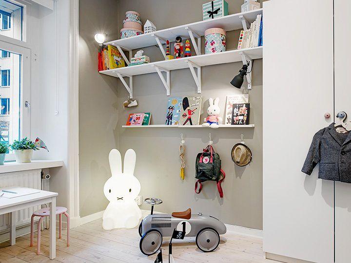 时尚美式儿童房多功能隔板室内装修图片