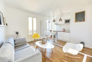 48平小户型极简北欧清新家庭设计一居室效果图