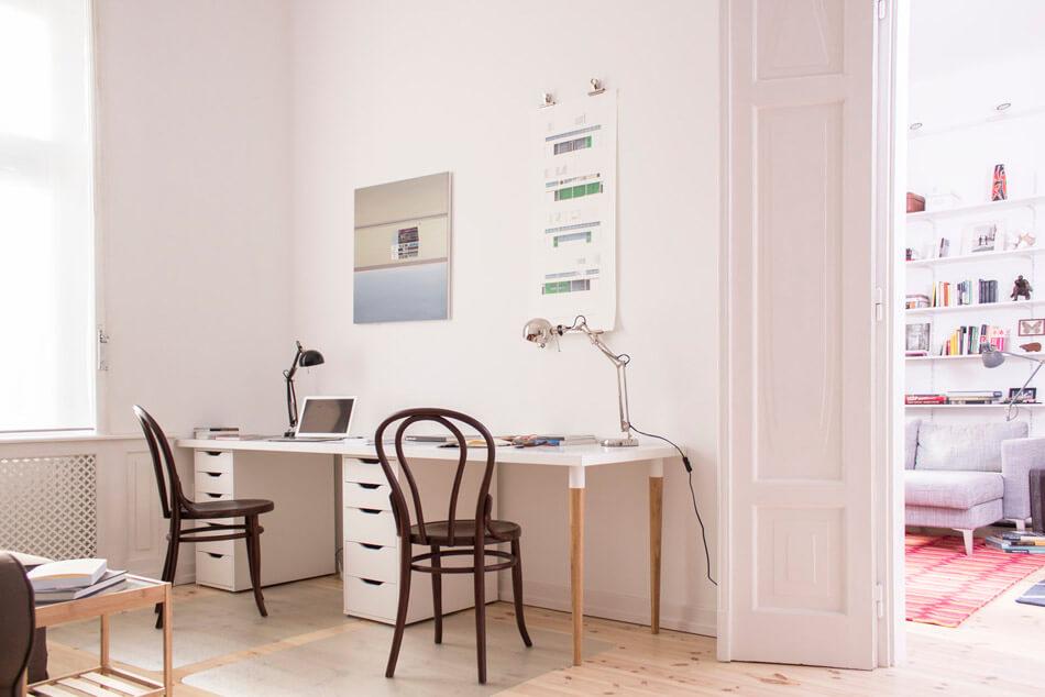 清新简约北欧风格浅粉色书房效果图大全