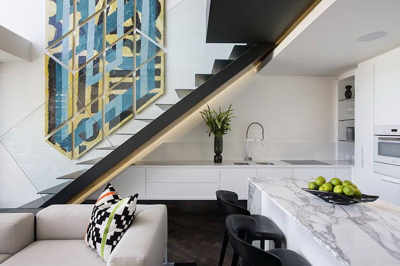 风雅现代简约风格复式楼梯装潢效果图
