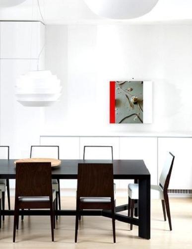 黑白时尚简约现代风餐厅装修效果图
