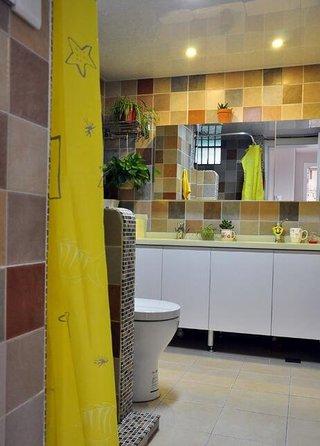 清新简雅宜家卫生间墙砖装饰图