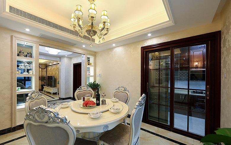 精致时尚欧式家装餐厅吊顶装潢