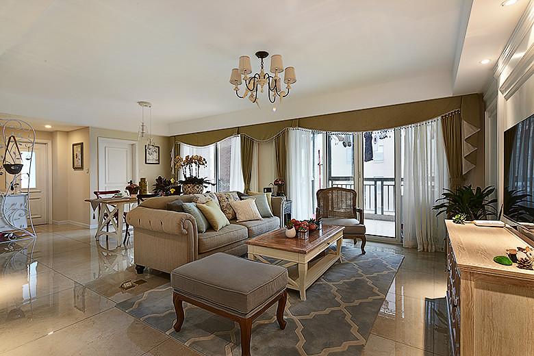 华丽美式客厅沙发效果图