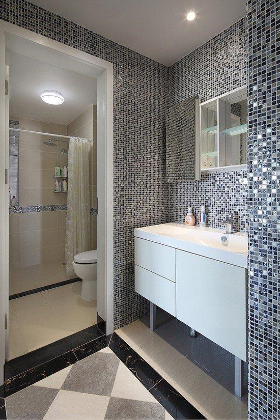 简约精美宜家风格整体卫生间隔断设计图