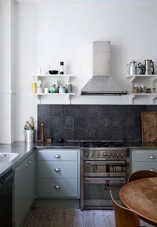 灰蓝色北欧风格厨房装饰效果图
