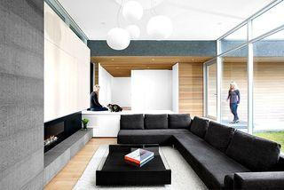 黑白时尚休闲现代简约风格别墅装饰效果图