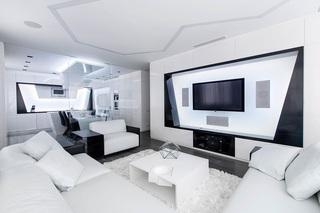 黑白极简主义公寓装修欣赏图片