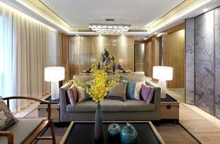 时尚新古典客厅隔断装修效果图