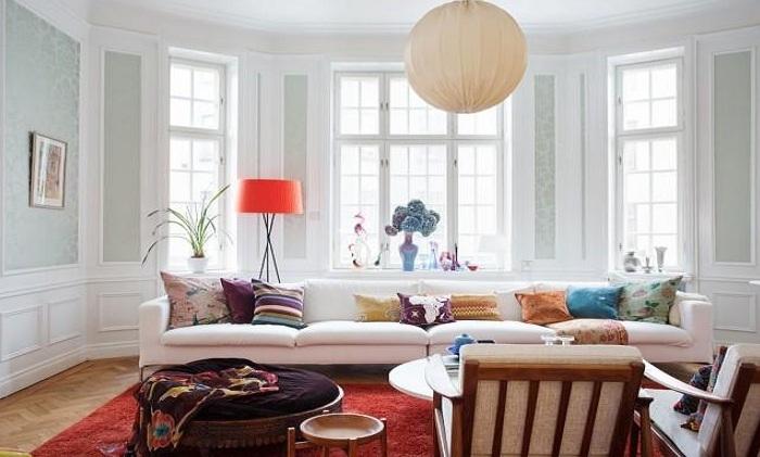 唯美清新北欧风格客厅窗户装修图片