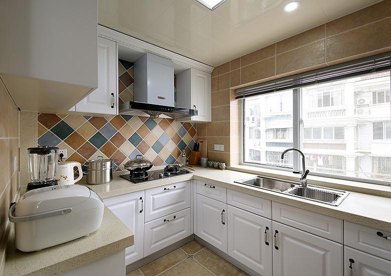 5平米美式风格厨房飘窗设计案例图