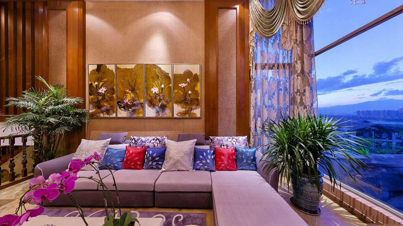 多彩东南亚豪华风格别墅室内装修效果图