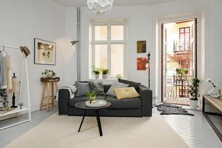 时尚黑白北欧风格单身公寓装饰效果图