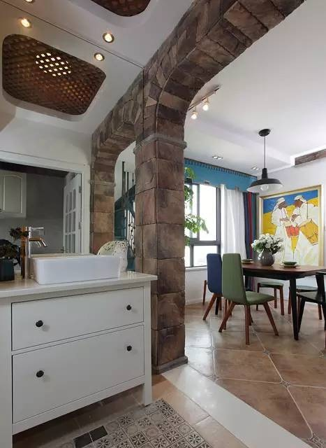 88平宜家异域风情复式家装隔断设计图