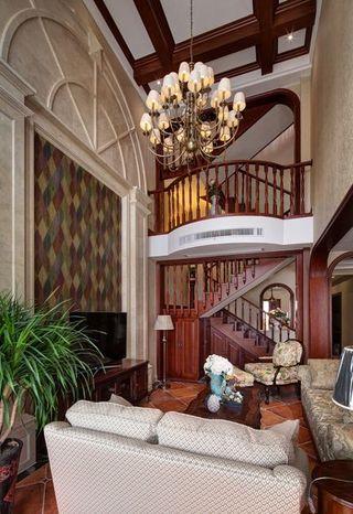 古典欧式装修风格别墅室内隔断设计案例图