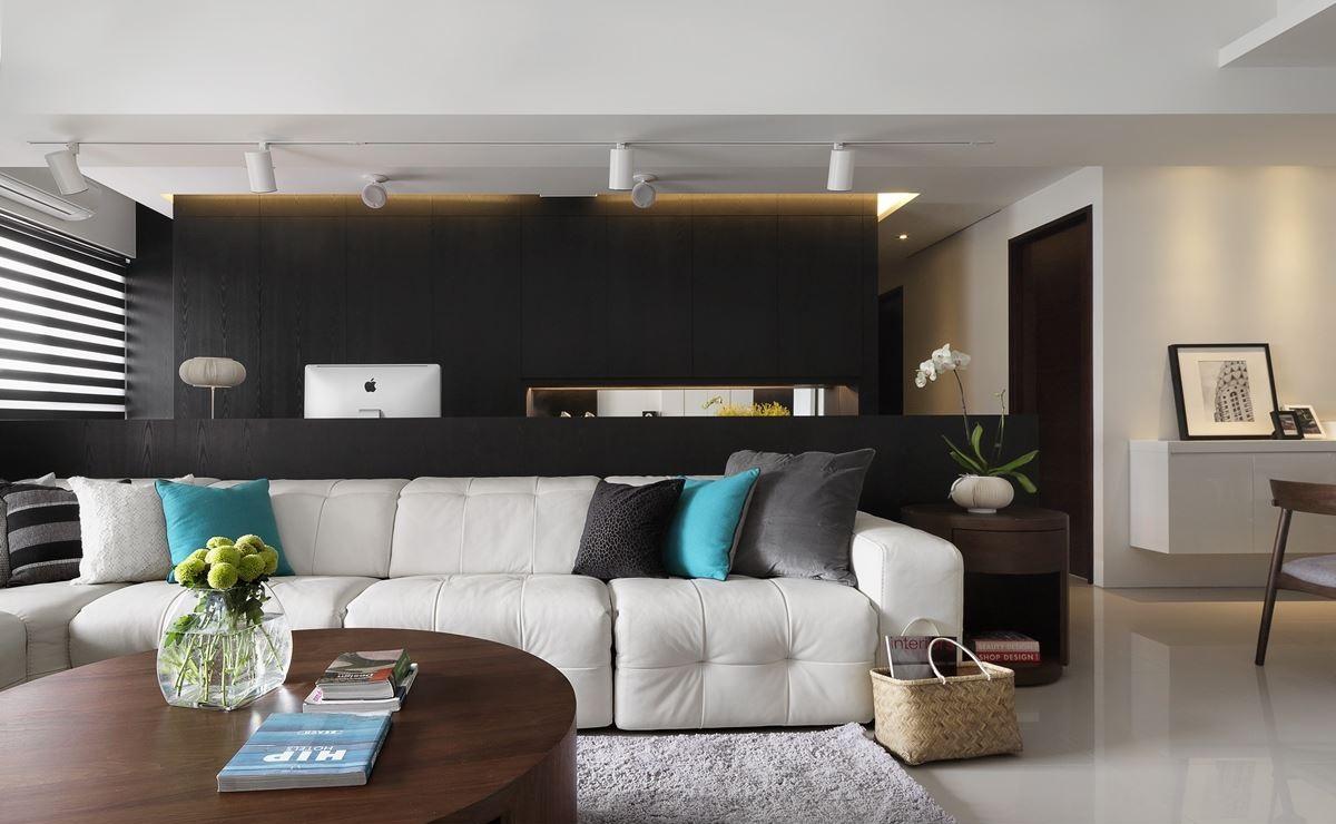 黑白极简宜家风格二室一厅设计装修图