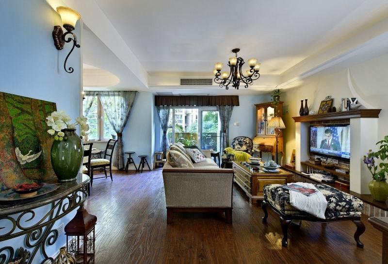精致美式复古家装客厅装饰大全