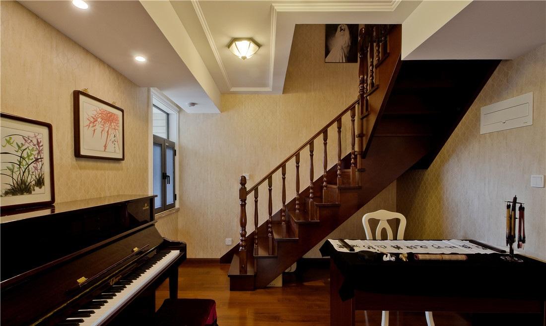 简约美式复古楼梯效果图