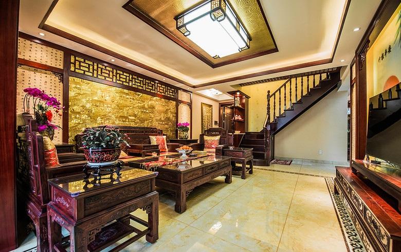 端庄典雅中式风格复式室内设计装修图