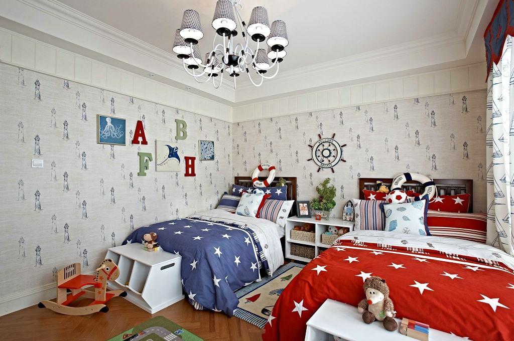 可爱欧式现代儿童房壁纸装修效果图