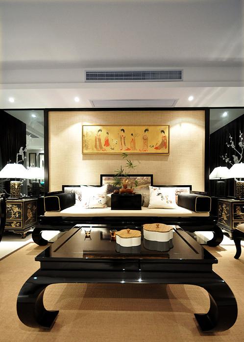 新中式古典主义风格别墅室内装修案例图