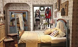 个性美式乡村风卧室设计装饰效果图