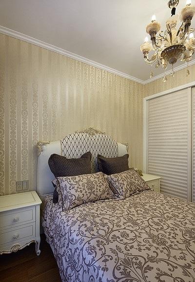 时尚简约现代欧式卧室墙纸效果图