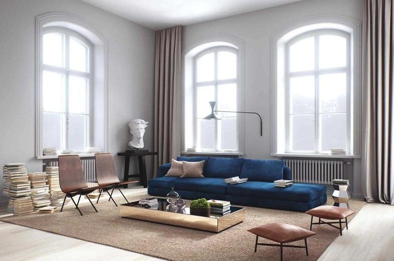 华丽简欧复式客厅窗户设计效果图