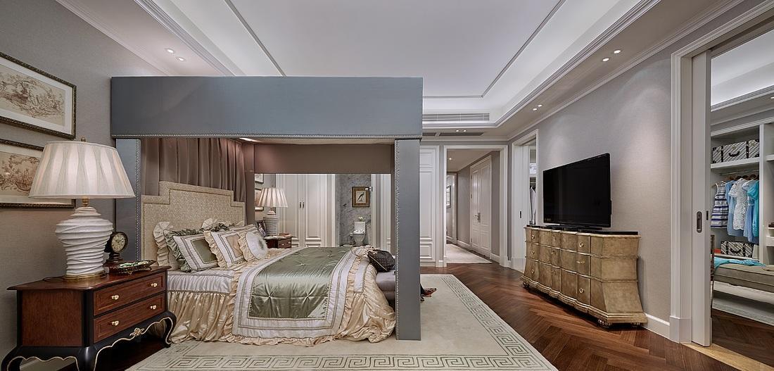 华丽复古欧式风格卧室装修效果图