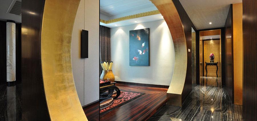 摩登古典新中式风格三居室装修美图
