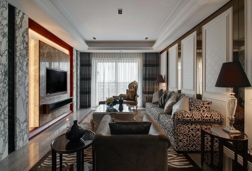 时尚现代豪华客厅装修效果图