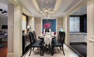 欧式新古典风格家装餐厅精美吊顶效果图