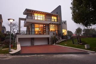 200平米后现代风格独栋别墅建筑设计装修效果图