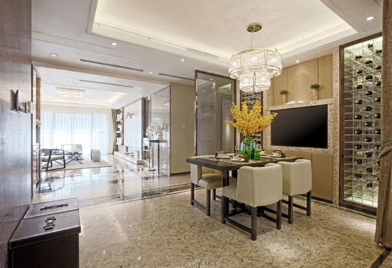 时尚大气现代家居餐厅玻璃酒柜设计装修欣赏图