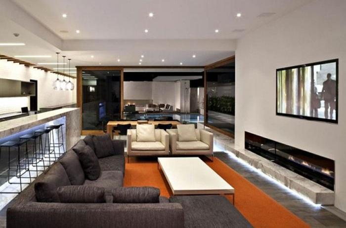 豪华时尚现代风客厅装修设计效果图大全