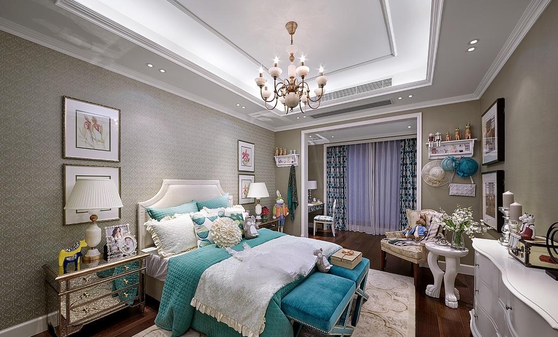 唯美小清新欧式卧室装修效果