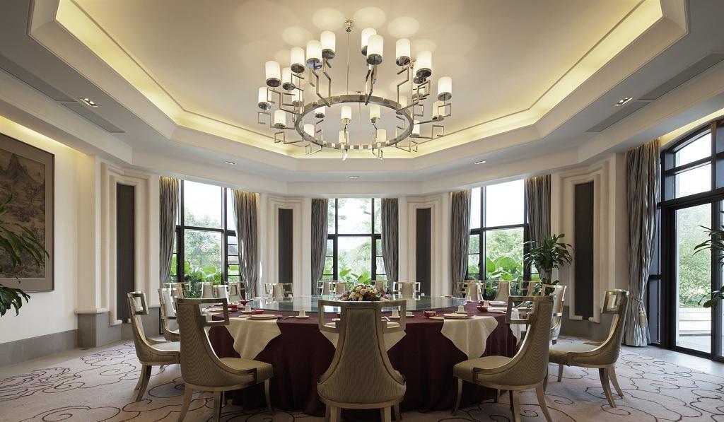 高端大气现代欧式六边形餐厅效果图