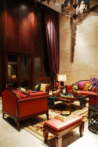 奢华浓郁复古东南亚风格别墅装修案例欣赏