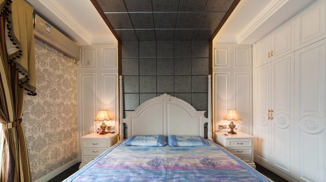 典雅欧式风格卧室白色衣柜装饰效果图