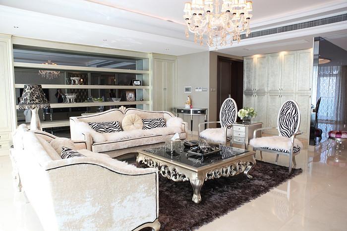 现代简约欧式宫廷风客厅沙发效果图